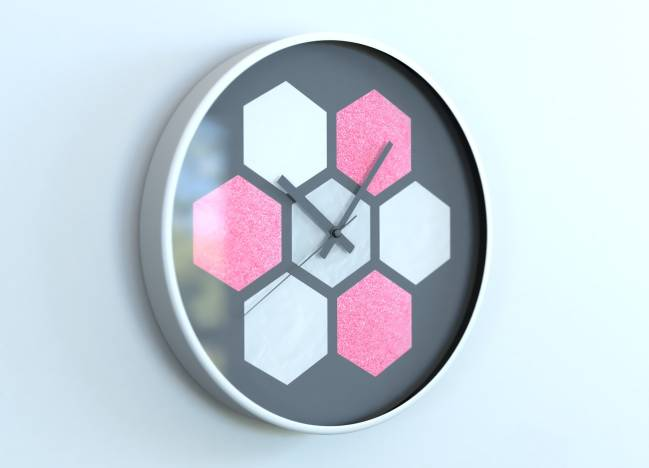round clocks Hexagone