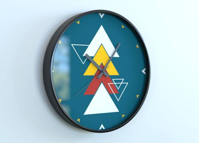 Horloges rondes Triangles