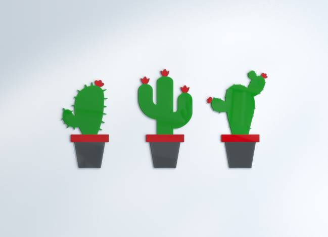 Wanddekoration Cactus