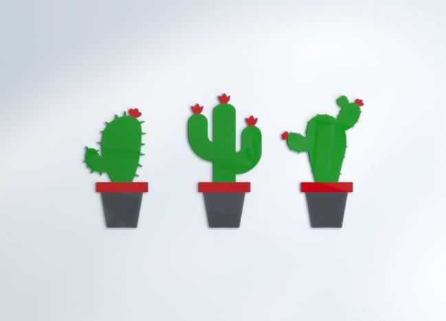 Vægdekoration Cactus